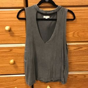 Grey cut out top